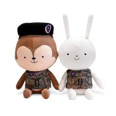 Bonicrew White Hayang Brown Neukkun Doll Descendants of the Sun 태양의 후예 太阳的后裔 #Bonicrew