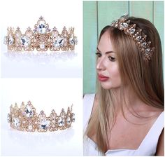 Hey, I found this really awesome Etsy listing at https://www.etsy.com/listing/523630784/rose-gold-bridal-crown-wedding-tiara