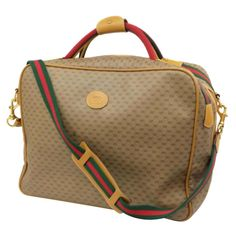 cbcca04ff890 Gucci Duffel Bag / Carry-On Bag - Web Gg Signature Suitcase 2Way 228143  Beige Canvas Weekend/travel Bag Canvas