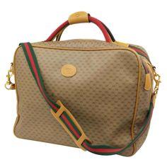 f4de749abb3d Gucci Duffel Bag / Carry-On Bag - Web Gg Signature Suitcase 2Way 228143  Beige Canvas Weekend/travel Bag Canvas