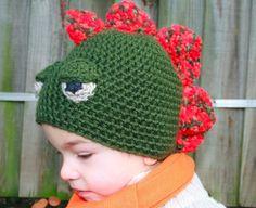 Hat Crochet Pattern dinosaur hat pattern boy by LuzCrochetPatterns