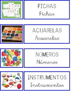 ESOS LOCOS BAJITOS DE INFANTIL: CARTELES DE MATERIALES Catalan Language, Dora, Printable Labels, Classroom Decor, Classroom Management, Montessori, Preschool, Teaching, Education