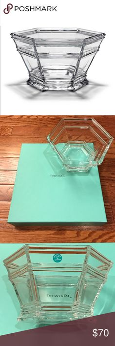 """Tiffany & Co Windham Bowl 7"""" Brand New Brand new, never used Tiffany & Co., Windham Crystal bowl. This gorgeous piece comes with its original Tiffany box & signature white ribbon bow.  No scratches or damages on bowl. Bowl protected by multiple layers of bubble wrap inside Tiffany box, safe for shipping.  Very rare piece since it has been discontinued. This piece is named for the Connecticut county where Tiffany & Co.'s founder, Charles L. Tiffany, was born. Bowl in crystal. 7"""" diameter. 1st…"""