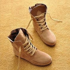 Hot sale Leather snow women boots Autumn Winter shoes woman Fashion flat ankle boots for women plus size botas mujer 2016 AT48