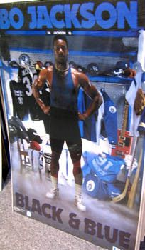 Bo Jackson BLACK AND BLUE 1989 LA Raiders Football, KC Royals Baseball Poster - $19.99 April 2013