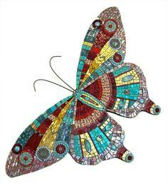 ideas for modern mosaic butterfly Butterfly Mosaic, Mosaic Birds, Mosaic Wall Art, Mosaic Flowers, Mosaic Mirrors, Mosaic Crafts, Mosaic Projects, Mosaic Ideas, Mosaic Designs