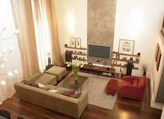 decorating small living rooms | Make Small Living Room More Comfort With Wooden Tv Set | Living Room ...