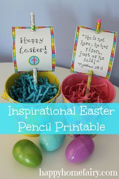 FREE Inspirational Easter Pencil Printables
