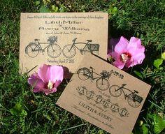 vintage bicycle invitations