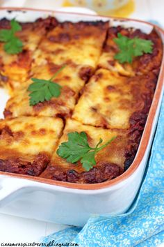 Hot Sausage & Sweet Potato Lasagna #dinnerrecipes