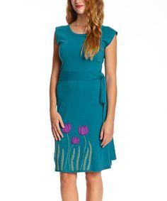 Look at this #zulilyfind! Marina Tulip Organic Belted Dress - Women #zulilyfinds