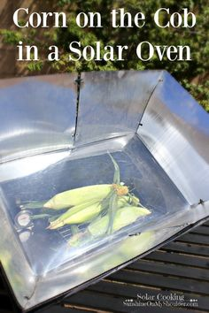 Corn on the cob can be left in the husk, silk and all, and cooked directly in the solar oven, Husks and silk will peel right off. Oven Recipes, Lunch Recipes, Great Recipes, Cooking Recipes, Healthy Recipes, Breakfast Recipes, Dinner Recipes, Solar Cooker, Solar Oven
