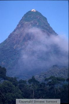 #35 Sri Padaya (Adam's Peak), Sri Lanka. It's a 2243 m (7359 ft) mountain, a 1.8 m (5 ft 11 in) rock formation near the summit, which is known to hold the footprint of the Buddha, in Hindu tradition that of Shiva and in Islamic and Christian tradition that of Adam, or that of St. Thomas. Hence it is revered as a holy site by Buddhists, Hindus, Muslims and Christians alike.
