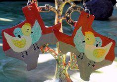 Original Handpainted Texas Love Bird by InspriationWorkshop, $12.00