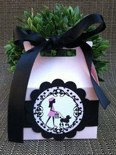 Ooh La La Paris Party Favor Boxes Set of by KristinesCreationsSD, $24.00
