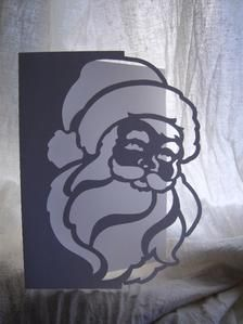 View FATHER CHRISTMAS OVER THE EDGE CARD 1 Details