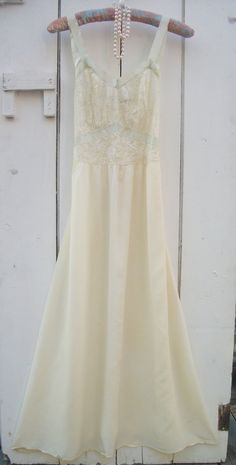 Vintage 1940s Rayon Nightgown Hollywood Glam by VintageSoulWear, $40.00
