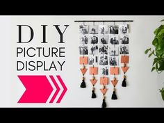 DIY Hanging Picture Display , Photo Wall Decor DIY, DIY wall Decor, - YouTube