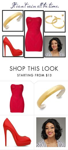 """betty boop"" by evi-alverti on Polyvore featuring Hervé Léger, Gurhan, Giuseppe Zanotti and Tory Burch"
