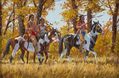 """Western Artist: Ron Stewart, """"Silent Suspicion"""", Oil Painting, Signed left corner, #740"""
