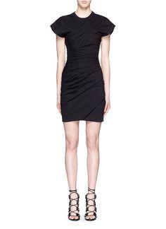 Alexander Wang   Black Ruched Jersey Bustier T-shirt Dress   Lyst
