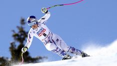 """Lindsey Vonn may have competed in her last ski race. After failing to finish a World Cup super-G on Sunday as she battles pain in both of her knees, Vonn said immediate retirement """"is a possibility. Lindsey Vonn Skiing, World Cup Skiing, Ski Racing, Ski Jumping, Sports Training, Knee Pain, Training Plan, Winter Sports, Cross Country"""