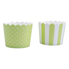 Mini Cupcake-Förmchen, hellgrün-weiß, 12 Stück