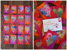 you are my fave: painted newspaper hearts -- Ella will love this project