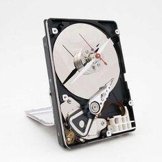 Hard drive clock...idea for the hard drive I broke when I dropped my laptop!