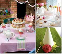Wooden cupcake stands..dollar store? Perfect princess tea party