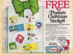 Peanuts Christmas Stickers ad