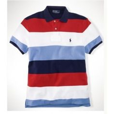Ralph Lauren Custom Leisure Breathable Cotton Color Stripe Polo $34.35.