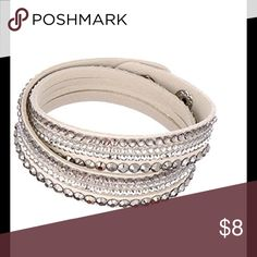 Soft Adjustable Gemstone Wrap Bracelet 2/$13, 1/$8 1 for $8 or $2 for $13!! Mix&Match! New Gorgeous Lightweight Adjustable Wrap jewel bracelet. Super soft and easy to put on! Three snaps for a perfect fit. Matches any style of clothing! Dress it up or dress it down! Great for gifts or summertime. Oh! And these are included in all bundle discounts!! 😉 Jewelry