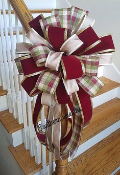 Rustic Christmas Tree Topper, Farmhouse Christmas Bow, Plaid Burgundy and Green Christmas Tree Topper Bow, Fall Mailbox Bow - Modern Christmas Bows, Green Christmas, Christmas Tree Toppers, Rustic Christmas, Christmas Crafts, Antique Bottles, Vintage Bottles, Vintage Perfume, Antique Glass