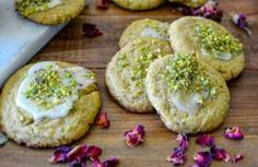 Rose Water and Pistachio Cookies #rosewaterandpistachiocookies #rosewater #pistachio #iranian #persian #cookies #recipe #mrsclueless #rose