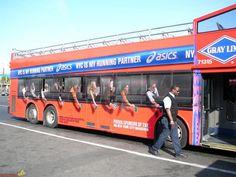 Creative advertising on transport