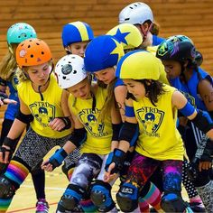 The future of roller derby is here. Watch out everyone - these awesome kick ass warriors are soon ready to take over the world.  Picture by the awesome @helenaisthlm  #strd08 #stockholmrollerderby #rollerderby #strdjuniors by strd08