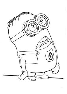Minion Coloring Pages Printable Free