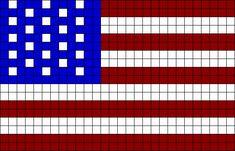 American Flag Perler Bead Pattern / Bead Sprite