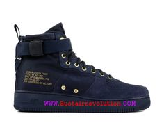 sports shoes fc148 c309d Nike Air Force 1 Moyen rétro Chaussures LifeStyle Nike Pas Cher Pour Homme  Or bleu 917753