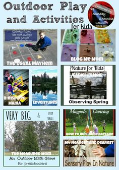 Outdoor Play and Activities for Kids - Pinned by @PediaStaff – Please Visit ht.ly/63sNtfor all our pediatric therapy pins