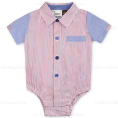 Fore!! Axel & Hudson Red & Chambray Stripe Onesie: Designer Kids Clothes | Shop our Boutique for Cool Children's Clothing