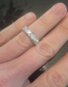 1.65CT Marquise & Round Diamond Wedding Ring by Pompeii3 on Etsy