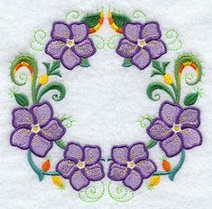 Periwinkle Wreath design (F2099) from www.Emblibrary.com