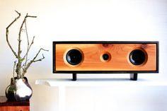 Bluetooth Reclaimed Wood Speakers || Elder Speaker || Handmade using Recaimed Redwood
