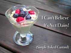 I Can't Believe It's Not Dairy! (Simple Baked Custard)