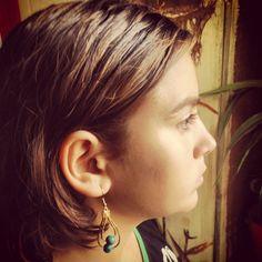 Capim Dourado Golden Grass earrings - women's fashion ecologically correct - $14.00.