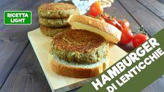 Hamburger LIGHT di lenticchie (145 calorie l'uno)