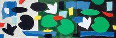 """andrea mattiello """"Watergarden"""" acrilico, collage e grafite su cartone vegetale cm 10x30; 2015#andreamattiello #art #artistaemergente #emergingartist #collage #paper #cardboard"""
