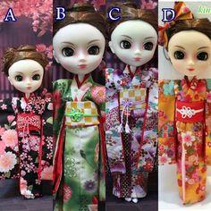 Etsy のkimono1/6 Pullip, DAL, BJD Doll.(ショップ名:japonsakura)